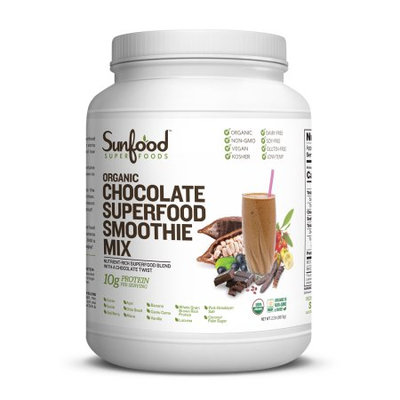 Sunfood Super Foods Organic Chocolate Superfood Smoothie Mix