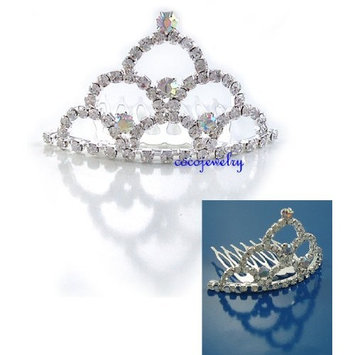 Bridal Flower Girl Prom Party Crystal Tiara Comb T3