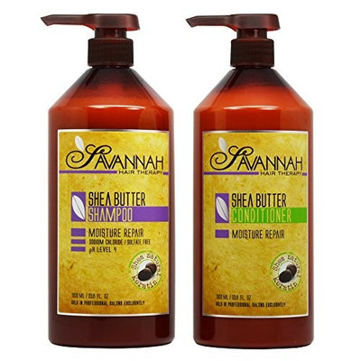 Savannah Shea Butter Shampoo & Conditioner 33.8oz Duo