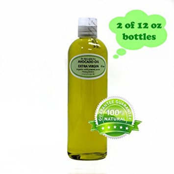 Dr. Adorable - 100% Pure Avocado Oil Organic Cold Pressed Unrefined Extra Virgin Natural Hair Skin - 24 oz