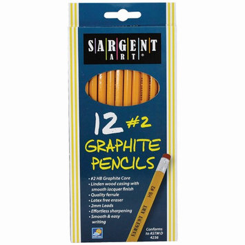 Sargent Art 12Ct Hb Graphite Pencils Unsharpened