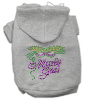 Mirage Pet Products 5447 LGGY Mardi Gras Rhinestud Hoodies Grey L 14
