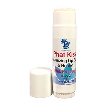Phat Kiss Pink Frosting Flavor Stick Style Lip Scrub, Nourishing, Exfoliating, Healing and Amazing, By Diva Stuff