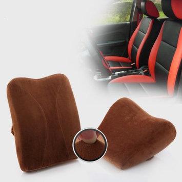 Living Healthy Products Memory Foam car lumbar pillow & Support Headrest-Lumbar seat cushion & Head Neck Rest Cushion