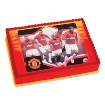 Manchester United Soccer Team Edible Image Icing Art Cake Topper / 1 count