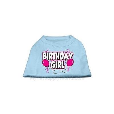 Mirage Pet Products 5106 XSBBL Birthday Girl Screen Print Shirts Baby Blue XS 8