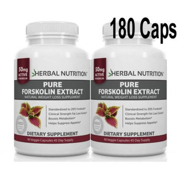 BOGO Sale - Pure Forskolin Extract - Two 90 Count Bottles 250mg A 20% Extract of Pure Coleus Forskohlii