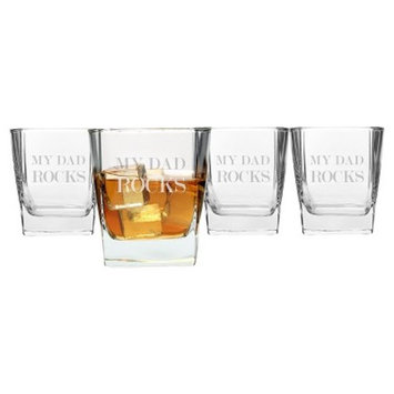 Father's Day 'Dad Rocks' Whiskey Glasses