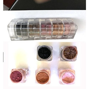 Micabella Natural Mineral Makeup 5 Stacks Shimmer Brown Eyes Beauty