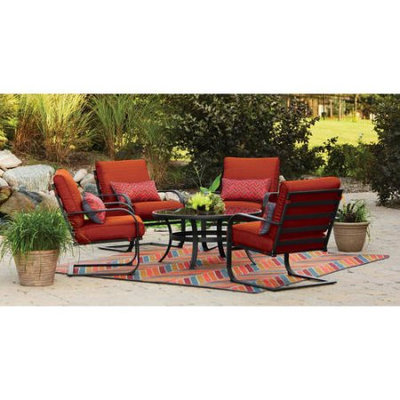 Mainstays Pyros 5-Piece Conversation Set, Burnt Orange, Box 2 of 2