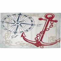 IDG Anchors Away White Rug, 22.5