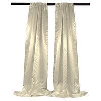 LA Linen BDbridal58x96-2Pk-IvoryB25 Bridal Satin Backdrop Ivory - 58 x 96 in. - Pack of 2
