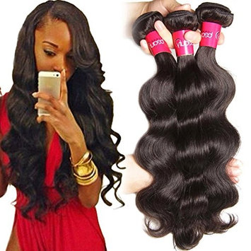 Brazilian Body Wave Hair Bundles With Closure Brazilian Virgin Hair Body Wave 3 Bundles With Closure 100% Unprocessed Human Hair Weave With Lace Closure Natu(100+/-5g)/pc