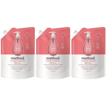 Method Gel Hand Wash Refill Pouch, Pink Grapefruit, 34oz, 3pk