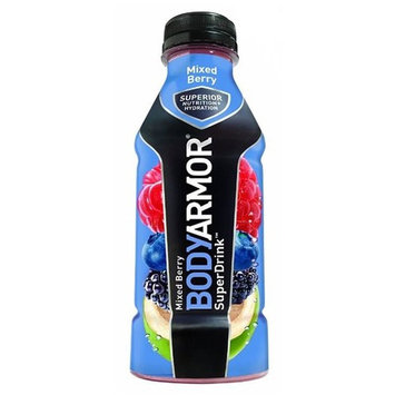 Body Armor Mixed Berry Sports Drink 16 oz Plastic Bottles - Pack of 12