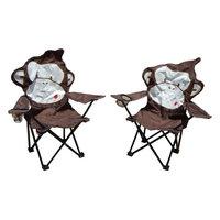 MAOS Brown Monkey Folding Kids Camping Chair
