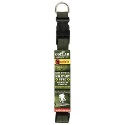 Westminster Pet Products 81017-2 Dog Collar, Green Military Spec, Large