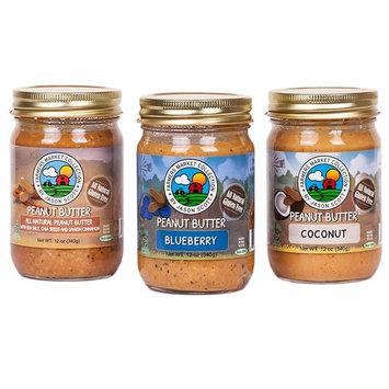Jason Scott's All Natural Dry-Roasted Peanut Butter with Blueberries & Coconut & Cinnamon - 3 Pack- Vegan Gluten Free Non-GMO Zero Added Sugar Family Owned Brand [Bluberry - Coconut - Cinnamon 3 Pack]