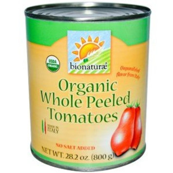 Bionaturae, Organic Whole Peeled Tomatoes, No Salt Added, 28.2 oz (800 g)(Pack of 2)