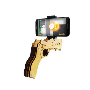 Xtreme Cables AR BLASTER Gun, Wood (Augmented Reality) [iOS & Android]