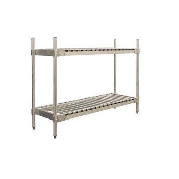 Prairie View Industries Aluminum Beer Keg Storage Rack - 2 Shelf Unit: 10 Keg Shelf