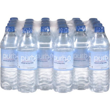 Foxledge Inc PurH2o Natural Spring Water, 16 fl oz, 24 pack