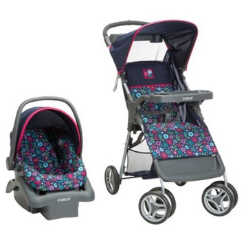 Cosco Lift & Stroll Travel System, Colorblock Coral