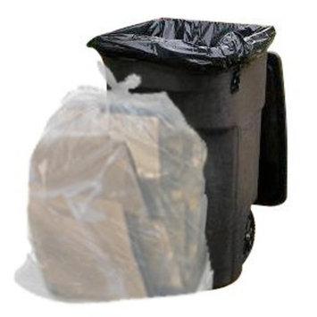 Toughbag Clear Trash Bags, 65 Gallon Garbage Bags (50)