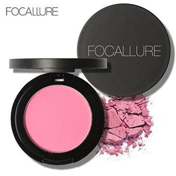 Binmer(TM) FOCALLURE Repair Capacity Powder Block Blush Exquisite Rosy Gloss Fine Outline (J)