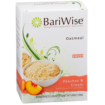 BariWise Low-Carb High Protein Oatmeal/Instant Diet Hot Oatmeals - Peaches & Cream (7 Servings/Box) - Low Carb, Low Calorie, Low Fat, Aspartame Free