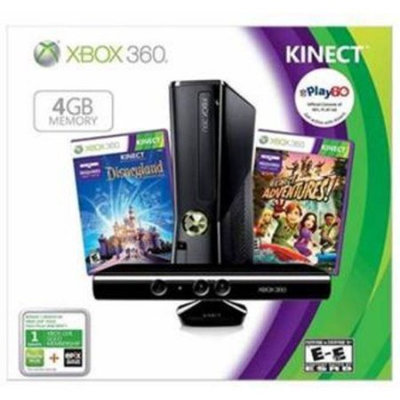Xbox 360 4GB Built-in WiFi Kinect Holiday Bundle