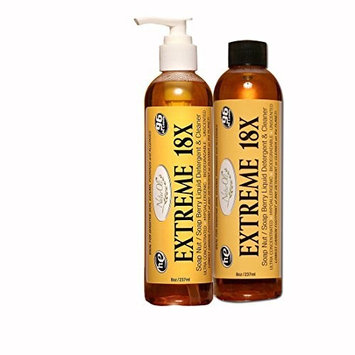 NaturOli EXTREME 18X -SALE- Soap Nuts/Soap Berry Liquid Laundry Soap, Natural HE Detergent & Green All-purpose Cleaner. SUPER-concentrated, Sulfate-free, Allergy-free, Unscented. (2 Pack)