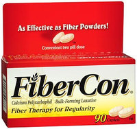Fibercon 625 mg Strength Calcium Polycarbophil Laxative Caplets
