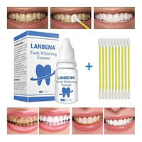 Teeth Whitening Liquid Toothpaste Fast Effect Tooth Cleaning Water for Yellow Black Spotted Teeth with Cotton Swab