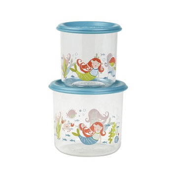 SugarBooger Good Lunch Large Snack 2 Piece Container, Mermaid