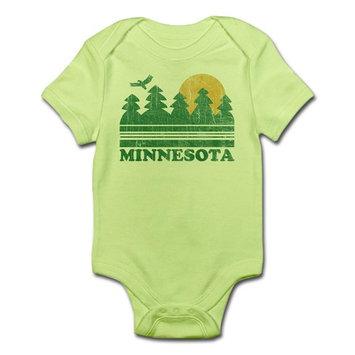 CafePress - Minnesota Body Suit - Baby Light Bodysuit