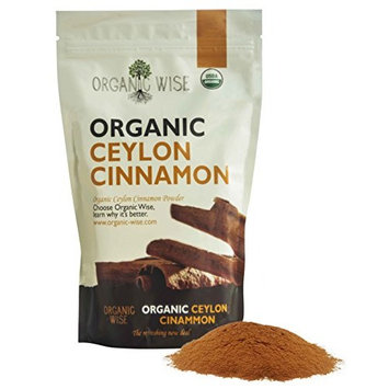 Organic Wise Ceylon Cinnamon Ground Powder, 1 lb-From a USDA Certified Organic Farm and Packed In The USA