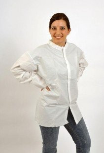 MaxShield Protective Disposable Shirts Smock Jacket Size Large MAX822 (50 Case) (Pack of 50)