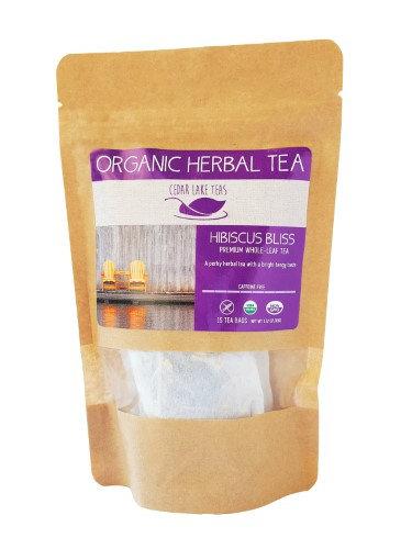 Cedar Lake Teas Organic Hibiscus Bliss 15 Tea Bags