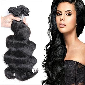 Maxine Brazilian Virgin Hair Body Wave Hair Weave 1 Bundles 100% Unprocessed Virgin Human Hair Weave Natural Black (10 inch)