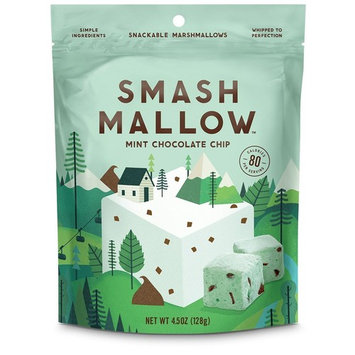 Smash Mallow Snackable Marshmallows Pack 4.5oz (Strawberries & Cream)