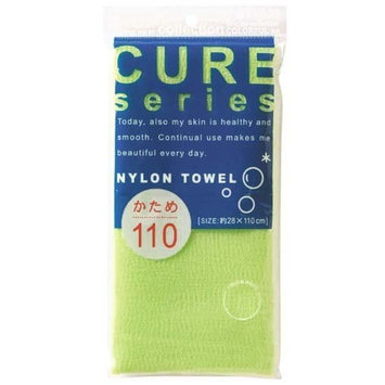 Cure Series Japanese Exfoliating Bath Towel from OHE - Hard Weave - Green, 110cm