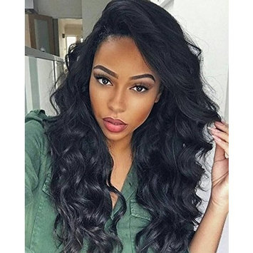 H&N Hair Brazilian Virgin Lace Front Wigs Body Wave Human Hair Wigs For Black Women 130% Density with Baby Hair Natural Black 18inch