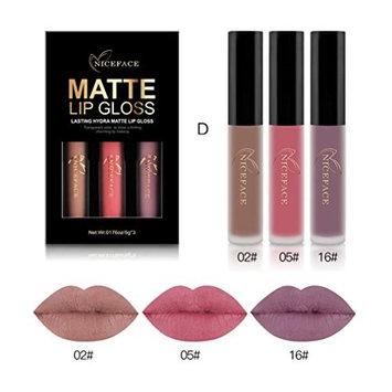 3PCS Waterproof Matte Liquid Lipstick Cosmetic Sexy Lip Gloss Kit