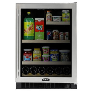 Marvel 61RFBSFR 24 Refrigerator/Freezer with 5.3 cu. ft. Refrigerator Capacity