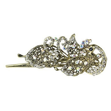 Leegoal Lovely Vintage Jewelry Crystal Peacock Hair Clips Hairpins- For Hair Clip Beauty Tools