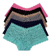 Pink in Love Women Lace 12 pack of Boyshort (P6662)