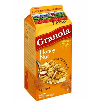 Sweet Home Farm Honey Nut Granola with Almonds, 24-Ounce Cartons (Pack of 2)