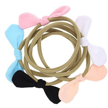 cuhair 5pcs Cute cloth flower handmad for women girl elastic ponytail holder hair tie hair rope hair rubber Girl Baby Headband Hair band hair Hoop hair Accessories