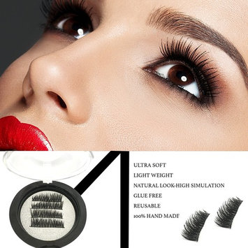 Faith Beauty Full Size Longer Reusable Dual Magnetic False Eyelashes Set (4 pieces) Easy to Apply Thin Dual Magnet False Eyelash